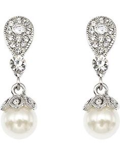 Image for Stoneset and Pearl Drop Pierced Earring from StoreName