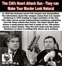 In 1975, during the Church Committee hearings, the existence of a secret assassination weapon came to light. The CIA had developed a poison that caused the victim to have an immediate heart attack. This poison could be frozen into the shape of a dart andRead more. Here is the Pin that I have been looking for because I think this is the gun that was used to kill Brainhart.