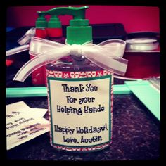 Christmas gifts for teachers!