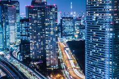 フリー写真, 風景, 建造物, 建築物, 高層ビル, 都市, 夜景, 日本, 東京都, 日本の街の風景, 商用利用可能, 改変可能