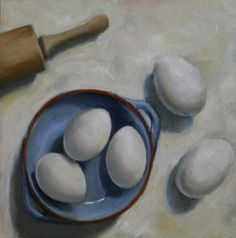 """8x8"""" oil on panel Oil, Fine Art, Painting, Painting Art, Paintings, Visual Arts, Painted Canvas, Drawings, Butter"""