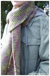 FitzBirch Crafts: Garter Stitch Scarf