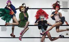 """""""Crazy Horse Show"""" Bo Lee Does Vegas Cabaret for Vogue Korea"""