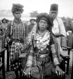 Indonesia | A young Gayo bridegroom , North Sumatra. Photo taken before 1939