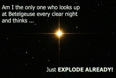 Betelgeuse is a red giant star easily visible in the constellation of Orion