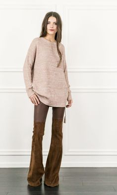 Sonia Oversized Sweater - Weekend errands? Rock this style with leather ankle boots and a chiffon scarf for a look that is low-key and stylish.