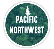 Pacific Northwest | Forest Circle Sticker