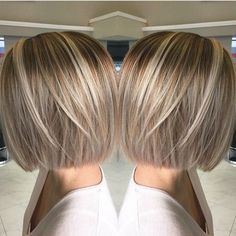 bob hairstyles with blonde highlights - Google Search by suzette