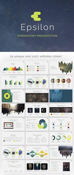 The best 8 free powerpoint templates the graphics pinterest epsilon powerpoint template 50 slides toneelgroepblik Choice Image