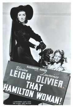 OLIVIER, Laurence and Vivien LEIGH. Small black and white reproduction of Lady Hamilton poster.