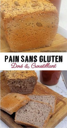 Gluten-free golden and crispy bread {Very easy} - My he Pain sans gluten doré et croustillant { Très facile} – My healthy sweetness Gluten-free golden and crispy bread {Very easy} – My healthy sweetness - Lactose Free Recipes, Gf Recipes, Vegan Gluten Free, Healthy Desserts, Healthy Cooking, What Is Gluten Free, Gluten Free Scones, Cooking Bread, Vegan Bread