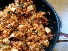 Bulgur s baklažánom a tofu