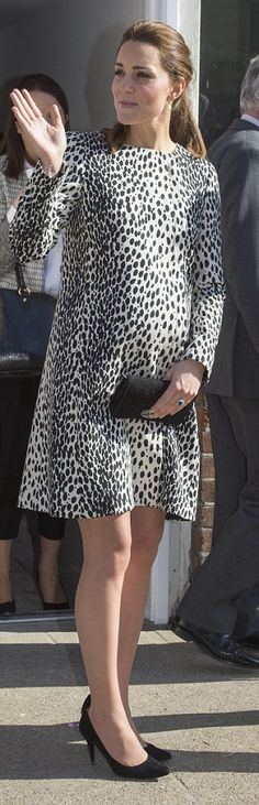 Bearing up: Despite her advanced pregnancy, the Duchess looked fresh-faced throughout the ...