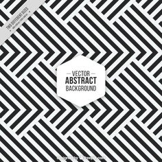 Modern black and white stripes background Free Vector