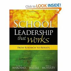 School Leadership That Works: From Research to Results: Robert J. Marzano, Timothy Waters, Brian A. McNulty: 9781416602279: Amazon.com: Book...
