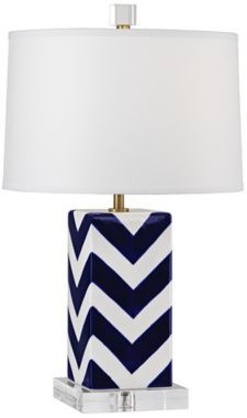 Robert Abbey Blue and White Stripes Modern Accent Lamp