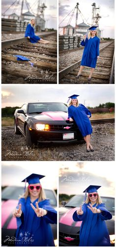 Creative Senior Graduation Poses by Modern Bliss Photography. I like the train track pictures