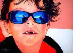la technique du portrait à la peinture acrylique sur toile