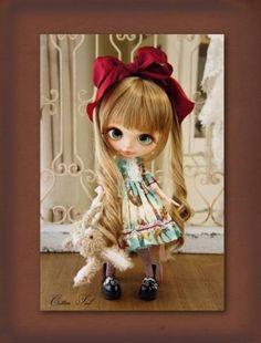 ◆ Cotton Tail ◆ baby Chutchu ♪ Custom Blythe Buy her here: #‎blythe #‎blythedolls #‎kawaii #‎cute #‎rinkya #‎japan #‎collectibles #‎neoblythe #‎customblythe