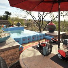 Outdoor red and turquoise Design Ideas, Pictures, Remodel and Decor