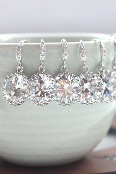 Gorgeous bridesmaid earrings