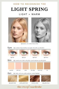 If you have just discovered that you are a Light Spring in the seasonal colour analysis, find out which colours look best on you. Light Spring Palette, Spring Color Palette, Spring Colors, Bright Spring, Warm Spring, Red Brown Hair, Seasonal Color Analysis, Color Me Beautiful, Spring Hairstyles