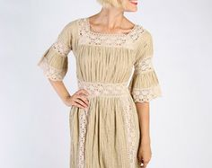 hand made knit dress pinterest | 1960s Dress // vintage 60s BOHO Max i // Wedding in Mexico Dress ...