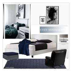 """Cozy Minimalist"" by rainie-minnie ❤ liked on Polyvore featuring interior, interiors, interior design, home, home decor, interior decorating, Outlast, Chanel, Flash Furniture and Dot & Bo"