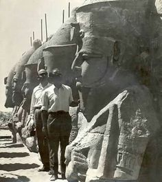 Vintage Image of removing the Statues of Ramses II,to the new site of the Temple in Source Egyptominia Ancient Egyptian Art, Ancient Aliens, Ancient History, Ancient Civilizations, Egyptians, Modern Egypt, Old Egypt, Valley Of The Kings, Ancient Artifacts