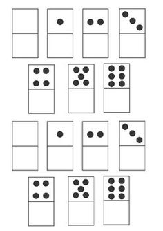 Make your own dominoes - Blank one side (Make for Hebrew)