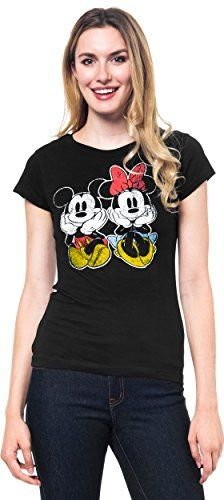 Disney Juniors TShirt Mickey Mouse Front Back Print Black Mickey  Minnie Medium >>> BEST VALUE BUY on Amazon