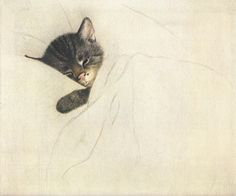 1933 - Chessie the Railroad Kitten. This is the classic, and most commonly seen version of the Chesapeake and Ohio Railway Chessie cat logo, as it was originally drawn in 1933 by Viennese artist Guido Gruenewald.