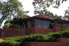 Frank Lloyd Wright  1937 - The Paul R. and Jean Hanna House, aka Honeycomb, 737 Frenchman's Road, Stanford CA.