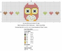 Cute Owl with Hearts - free pattern for cross stitch or hama beads Tiny Cross Stitch, Modern Cross Stitch, Cross Stitch Designs, Cross Stitch Patterns, Cross Stitching, Cross Stitch Embroidery, Le Blog De Vava, Pixel Crochet, Chart Design