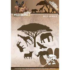 Amy Design Cutting Die Wild Animals - £6.50 - A great selection of Amy Design Cutting Die Wild Animals from Emerald Crafts - New Forest Craft Store
