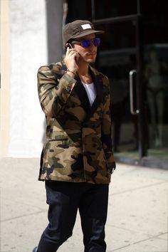 67a0046ffa9 Camo blazer (via Men s Style Blog) Gents Fashion