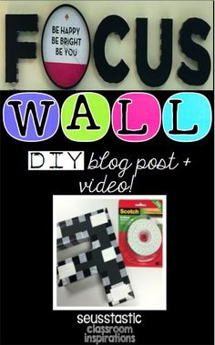 Amazing focus wall blog post and video!