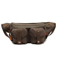 Genda Canvas Waist Bag Fanny Pack Bum Bag Leisure Bag Sport Style Single Sh *** You can find out more details at the link of the image. Bum Bag, Waist Pack, Luxury Bags, Bag Sale, Evening Bags, Army Green, Fanny Pack, Shoulder Strap, Backpack