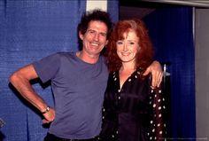 Bonnie Raitt and Keith Richards Bonnie Raitt, Keith Richards, Her Music, Rolling Stones, Singer, Rockers, Concert, Celebrities, Musicians