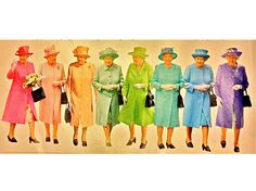 Queen's Rainbow / giovanna battaglia's journal march 2013 #graphicdesign #popculture #queenelizabethii