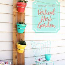Make Your Own DIY Cedar Fencing and Terra Cotta Pot Vertical Herb Planter