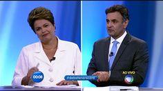 Debate Aécio X Dilma na Tv Record ao vivo 19-10-2014