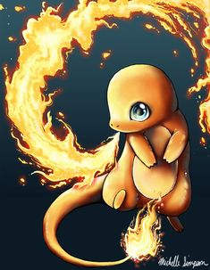 Charmander - This guy was my favorite! (It was all my nephew's fault, he left his Game boy out)