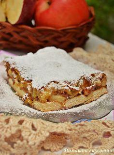 Домашни вкусотии: Сладкиш с ябълки и бисквити