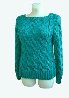 Crocheted sweatertunic made to order crochet handmade by dosiak, $90.00