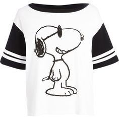 River Island White Snoopy print boxy t-shirt (20 AUD) ❤ liked on Polyvore featuring tops, t-shirts, remeras, sale, white short sleeve t shirt, white boxy top, boxy top, river island top and print t shirts