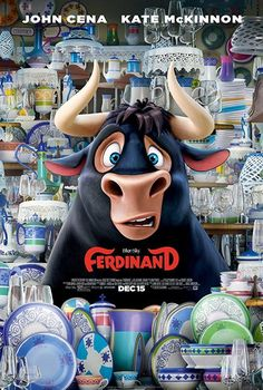 New Poster for Animated-Comedy 'Ferdinand' - Starring John Cena Kate McKinnon David Tennant Bobby Cannavale Daveed Diggs and Gina Rodriguez Streaming Movies, Hd Movies, Movies To Watch, Movies Online, Movies And Tv Shows, 2017 Movies, Film 2017, Movies Free, Cinema Movies