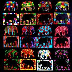 274_Personnages Animaux Monstres_Elmer et ses copains (47) African Art For Kids, African Art Projects, Elmer The Elephants, Afrique Art, Paper Weaving, Angel Crafts, Programming For Kids, Jungle Theme, Art Plastique
