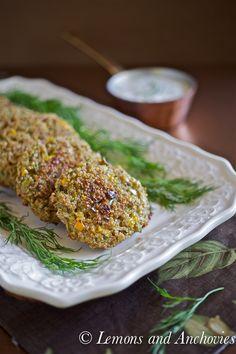 Quinoa Cakes with Yogurt-Dill Dip