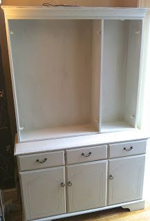 Amy In Devon: The White Cabinet - Betty the Beast! Tutorial on upcycling an old veneer dresser.